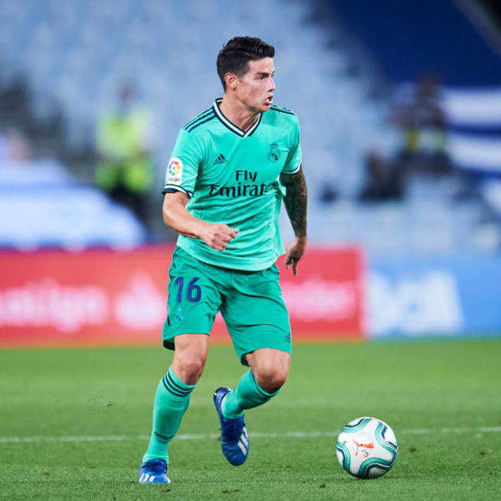 James fell out of favour at Real Madrid