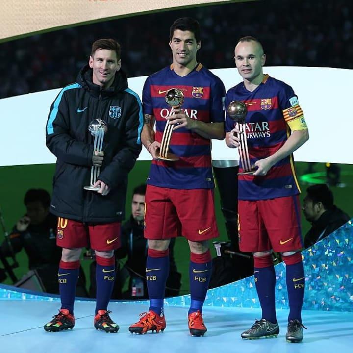 Lionel Messi, Luis Suarez, Andres Iniesta