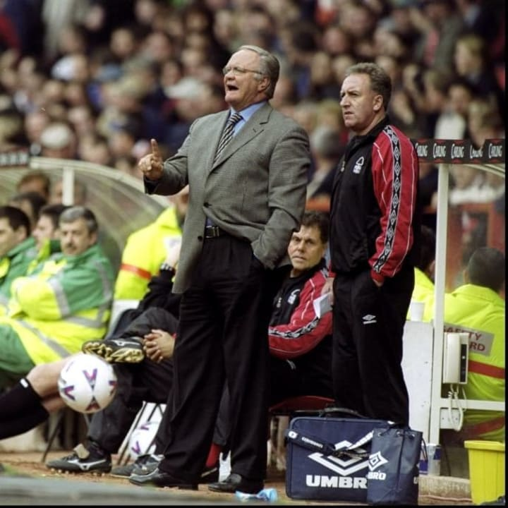 Ron Atkinson's last top flight job was at Nottingham Forest