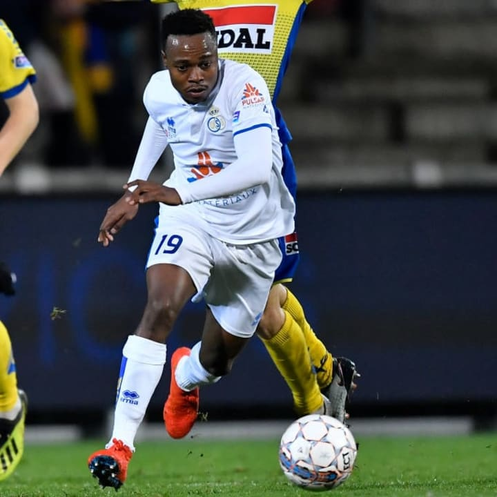 Percy Tau was named Proximus League Player of the Year during his season with Union Saint-Gilloise in 2018/19