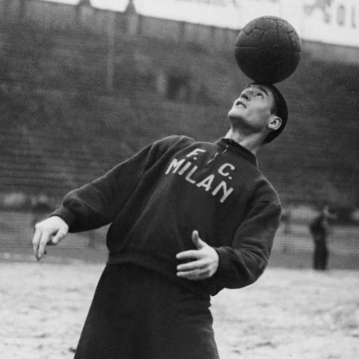 Nils Liedholm was one of three Swedish stars to join Milan in the late 1940s