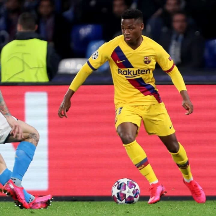 Ansu Fati is the youngest ever goalscorer in the Champions League
