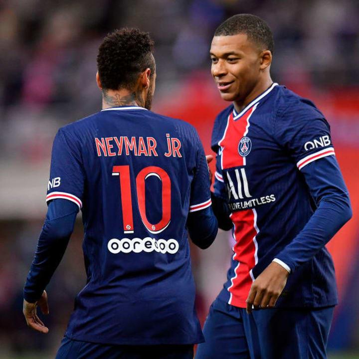 Neymar Jr, Kylian Mbappe