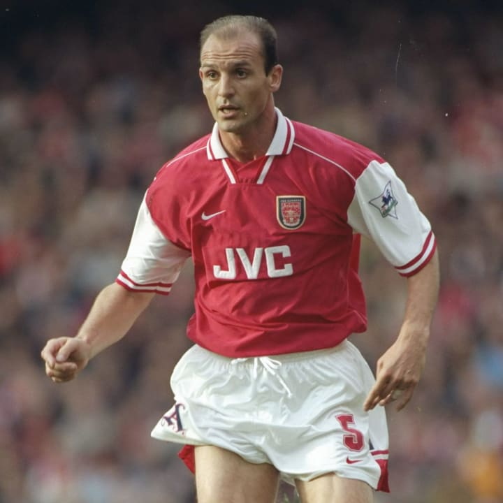 Steve Bould of Arsenal in action