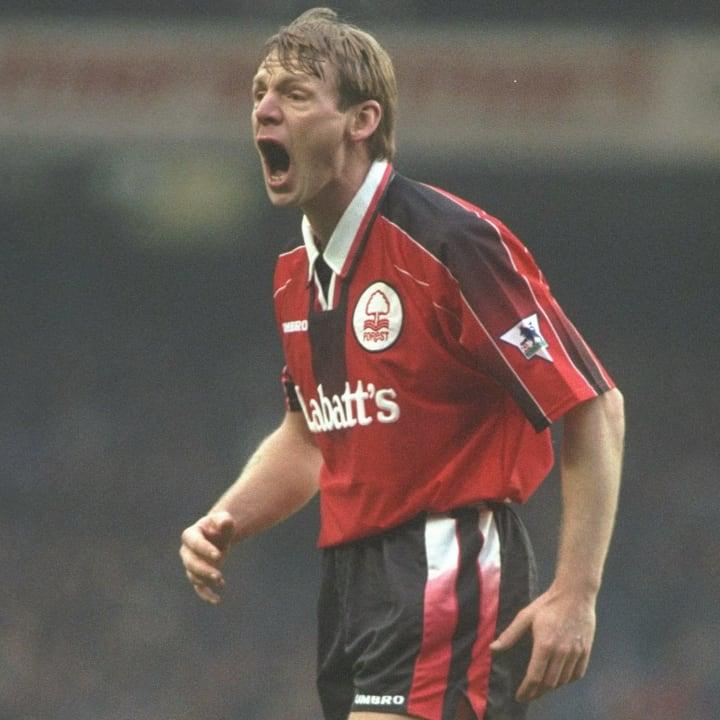 Stuart Pearce going full psycho in a Labatt's kit was a joy to behold