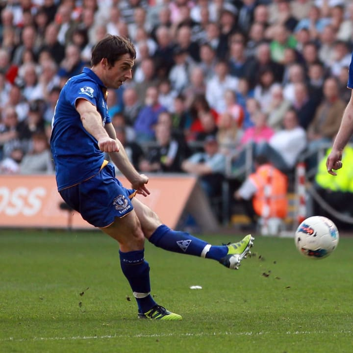 Leighton Baines free-kick effort