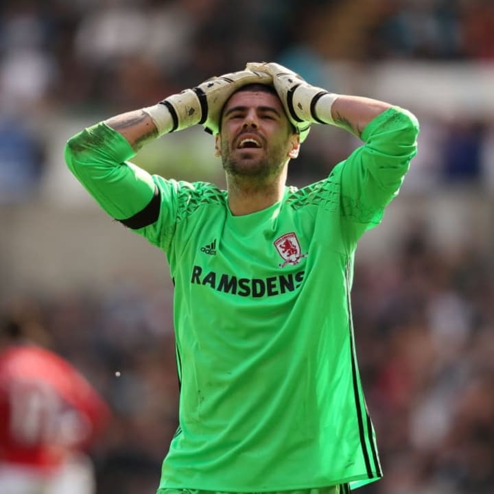 Victor Valdes was relegated with Middlesbrough in 2017