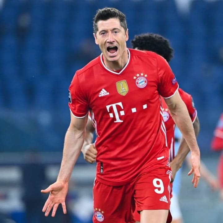 Obviously Robert Lewandowski score for Bayern Munich