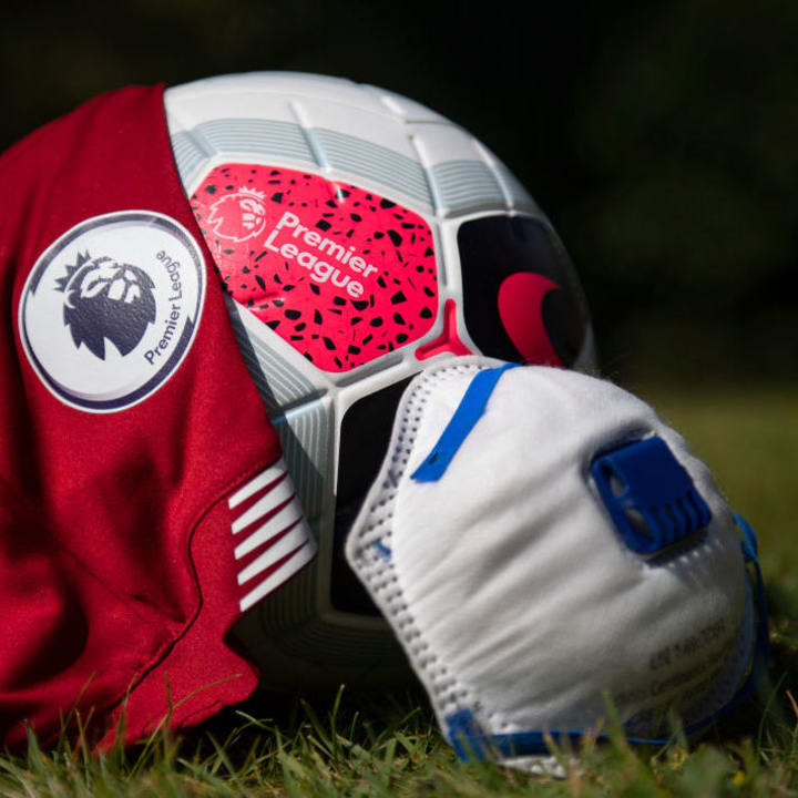 The Premier League Logo and Protective Face Mask