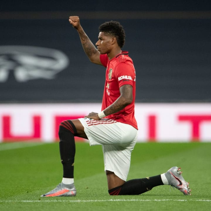 Rashford has campaigned against racism & poverty during lockdown