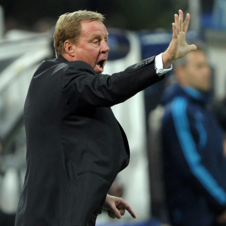 Tottenham's coach Harry Redknapp gesture