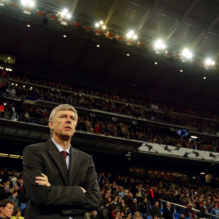 Arsene Wenger at the Bernabeu in 2006