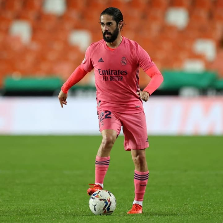 Isco is hardly starting for Real this season