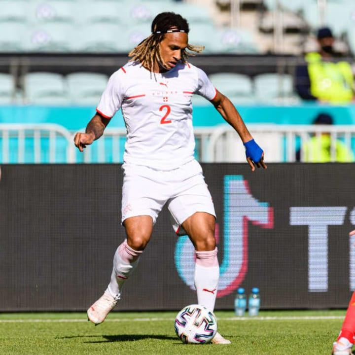 Kevin Mbabu covered plenty of ground for Switzerland