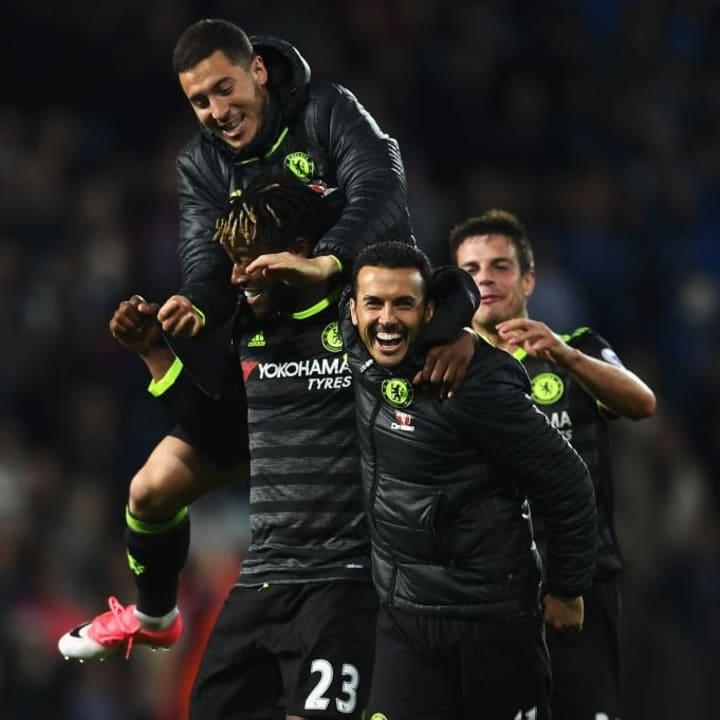 Michy Batshuayi, Eden Hazard, Pedro
