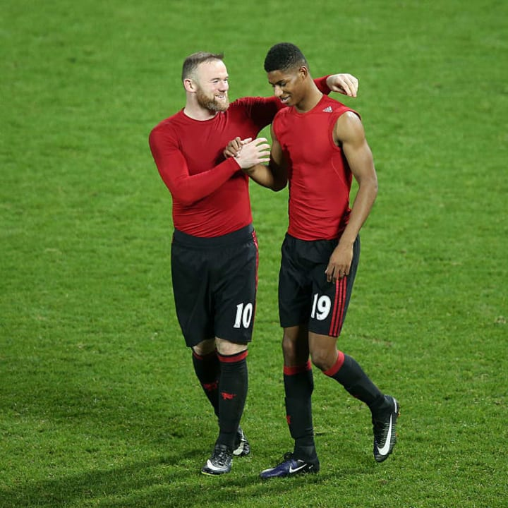 Wayne Rooney, Marcus Rashford