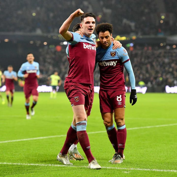 Felipe named Declan Rice in his ideal XI of teammates he's played with.