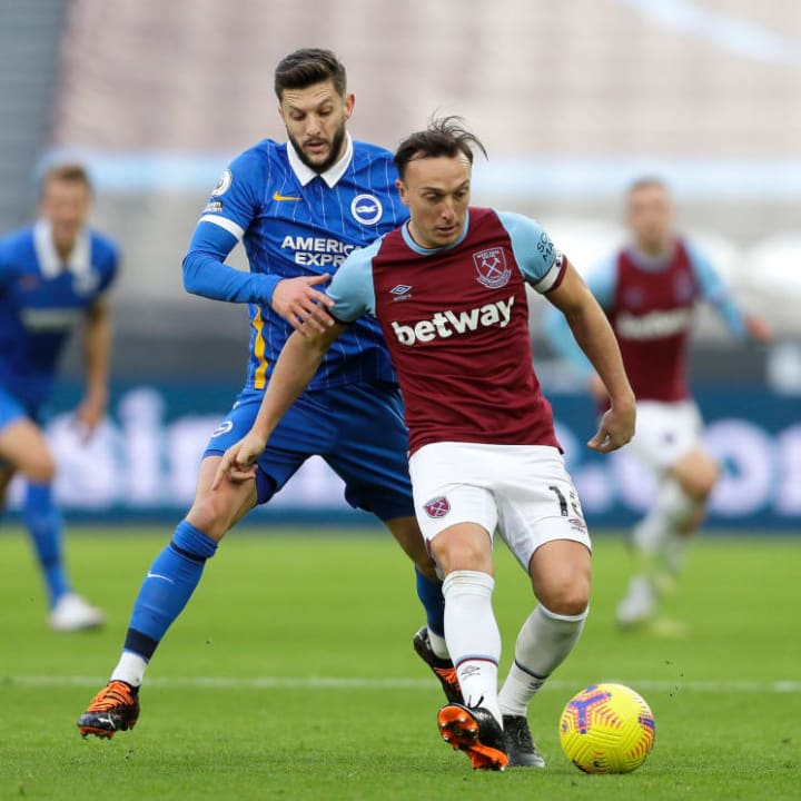 Mark Noble's inclusion from the start was a surprise