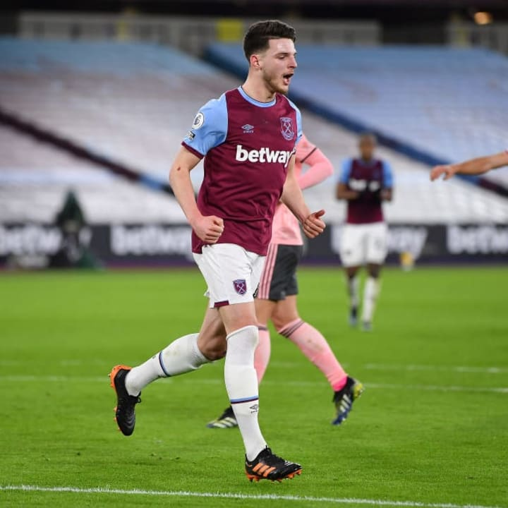 Rice has been in excellent form for West Ham