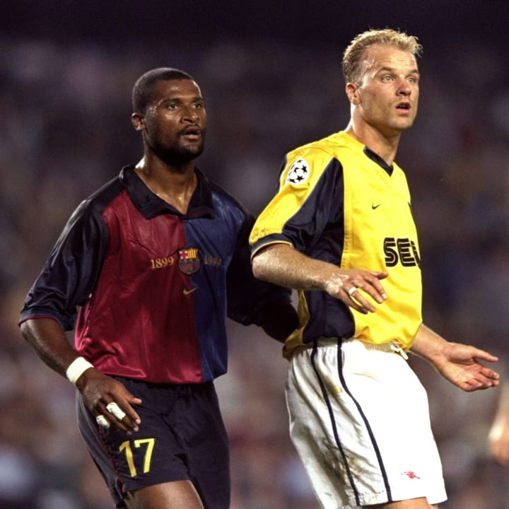 Winston Bogarde and Dennis Bergkamp