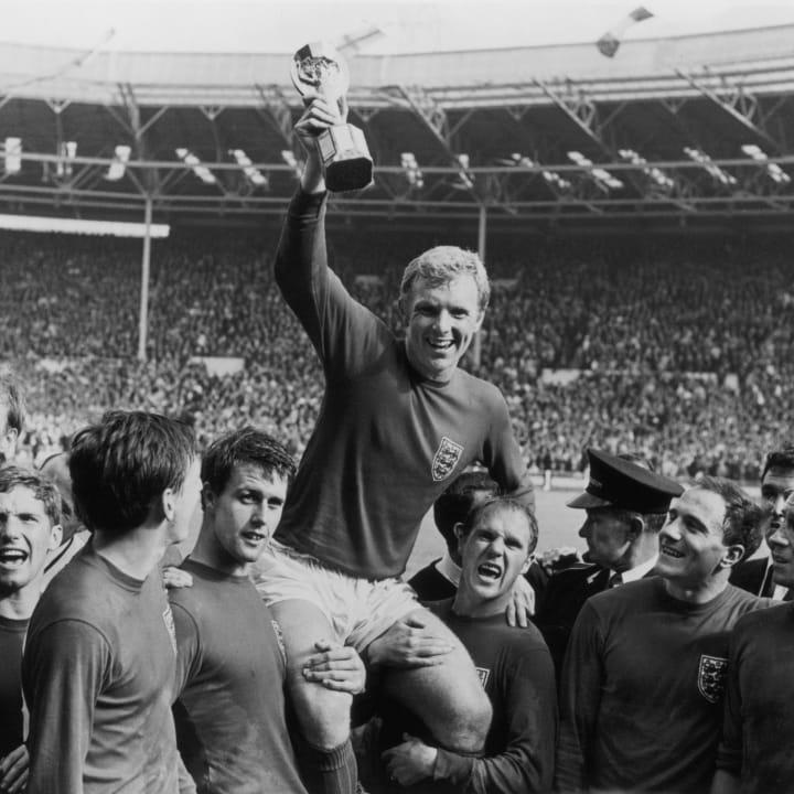 Alan Ball, Bobby Charlton, Ray Wilson, Bobby Moore, Geoff Hurst, Nobby Stiles, Jack Charlton