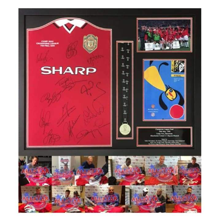 Many legends of 1999 have signed this shirt