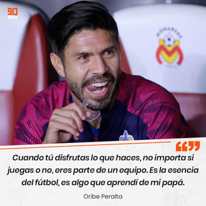 """""""Cuando disfrutas lo que haces, no importa si juegas o no, eres parte de tu equipo. Es la esencia del fútbol"""" Oribe Peralta"""