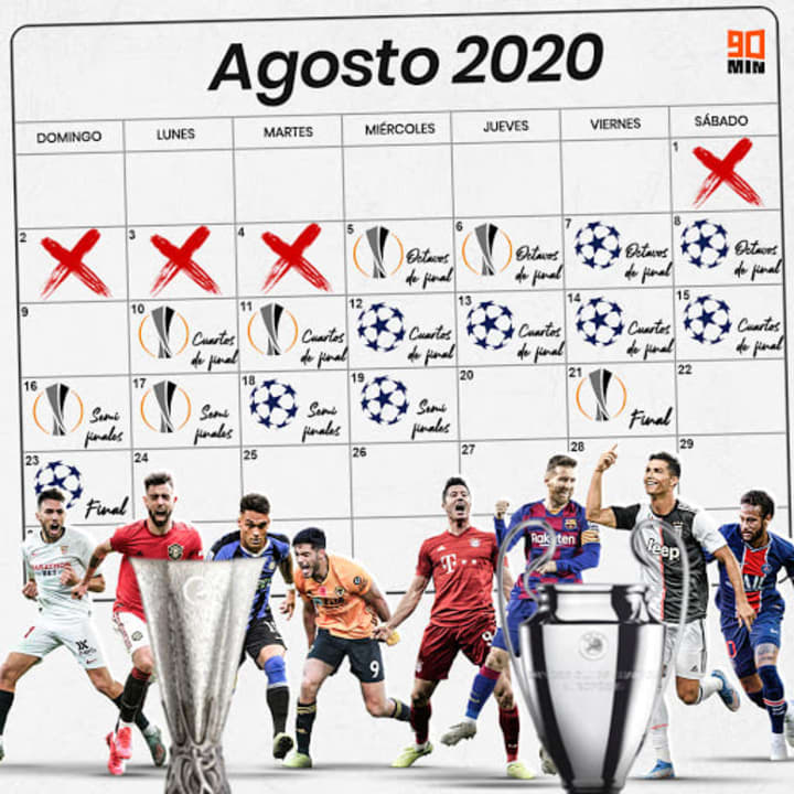 Calendario de la Champions y la Europa League