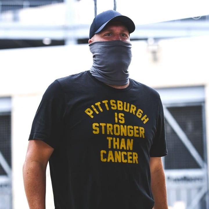 Ben Roethlisberger arriving at Steelers training camp.