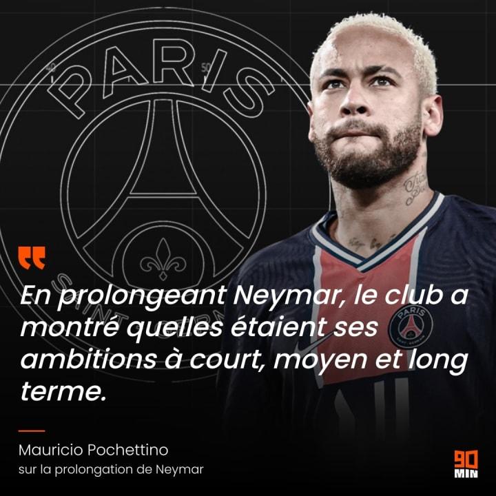 Neymar signe un nouveau contrat de 4 ans avec Paris.