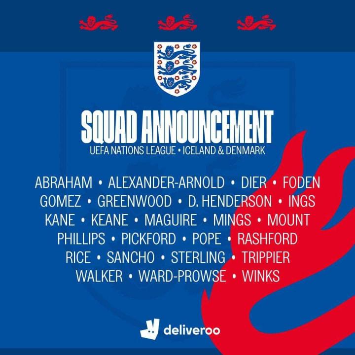 Những cái tên tập trung cùng đội tuyển Anh trong 2 trận đấu sắp đến tại Nation League