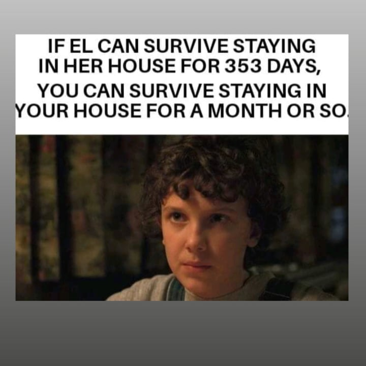 'Stranger Things' fans shared a perfect meme featuring Eleven in relation to social distancing