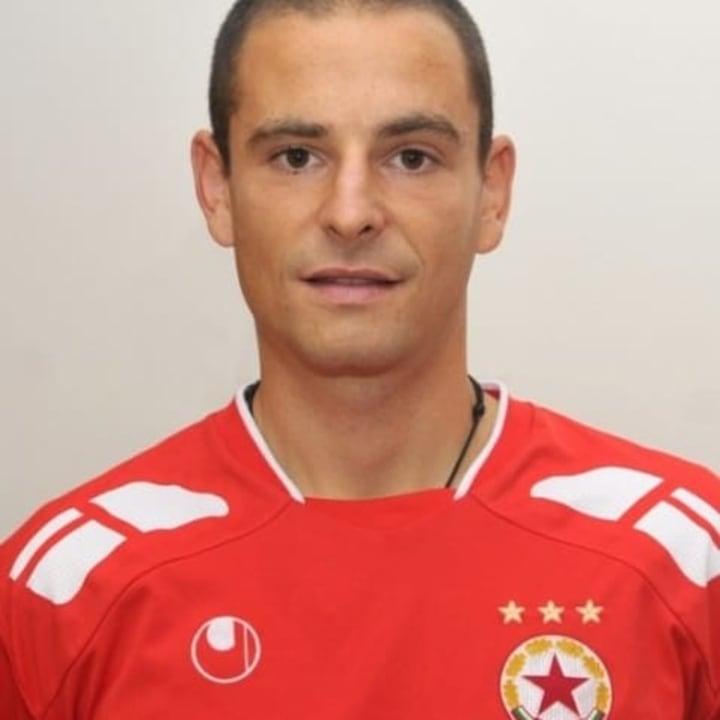 Grégoire Akcelrod avec le maillot du CSKA Sofia