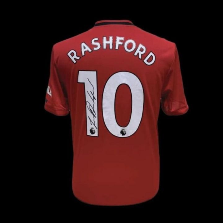 2019/20 home shirt signed by Marcus Rashford