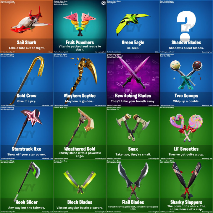 Fortnite Update 12.30 pickaxes.