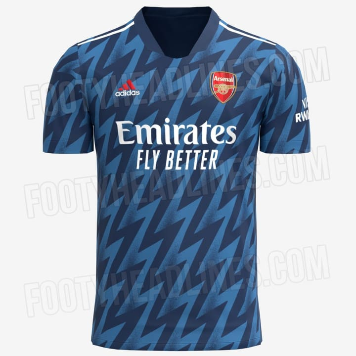 How Arsenal's third strip for next season is expected to look
