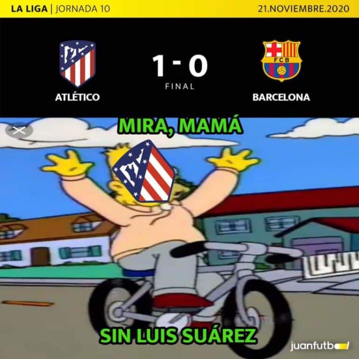 El Atlético de Madrid se impuso al FC Barcelona sin Luis Suárez