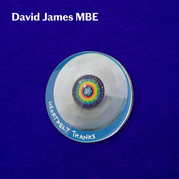 David James' original design for his #PinYourThanks pin badge