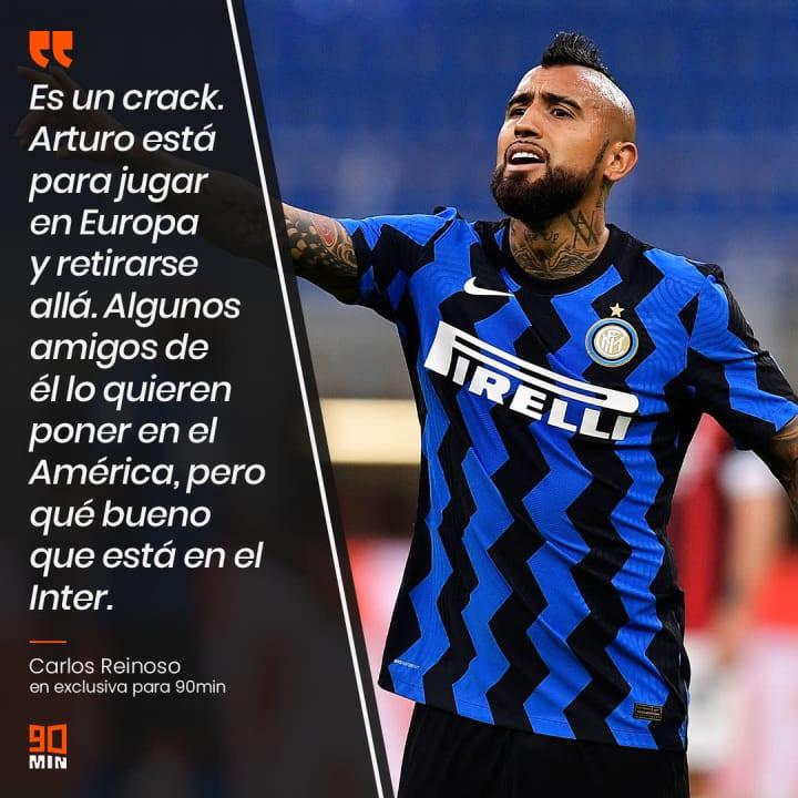 El chileno Arturo Vidal juega actualmente en el Inter de Milán. Existieron algunos rumores que podía llegar a sumarse a las filas americanistas.