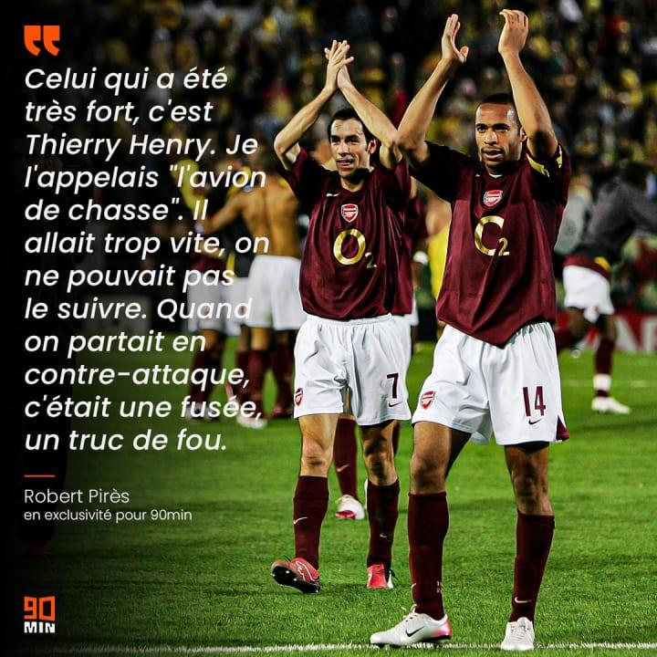 Thierry Henry et Robert Pirès ont évolué ensemble pendant plusieurs saisons.