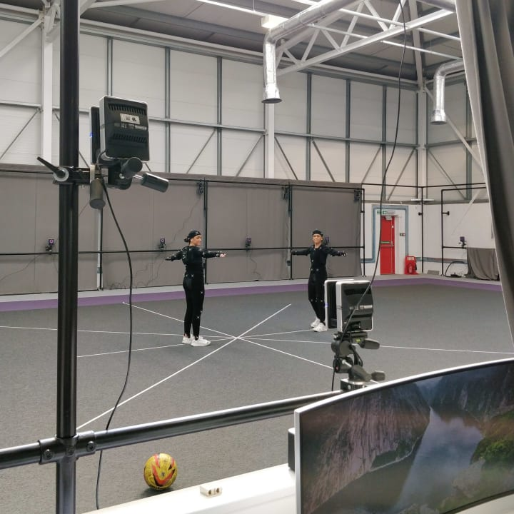 Football manager video game motion capture work