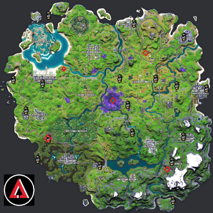 Where are all the artifacts in Fortnite? Alien artifacts fortnite location. alien artifacts week 1 fortnite. Kymera fortnite