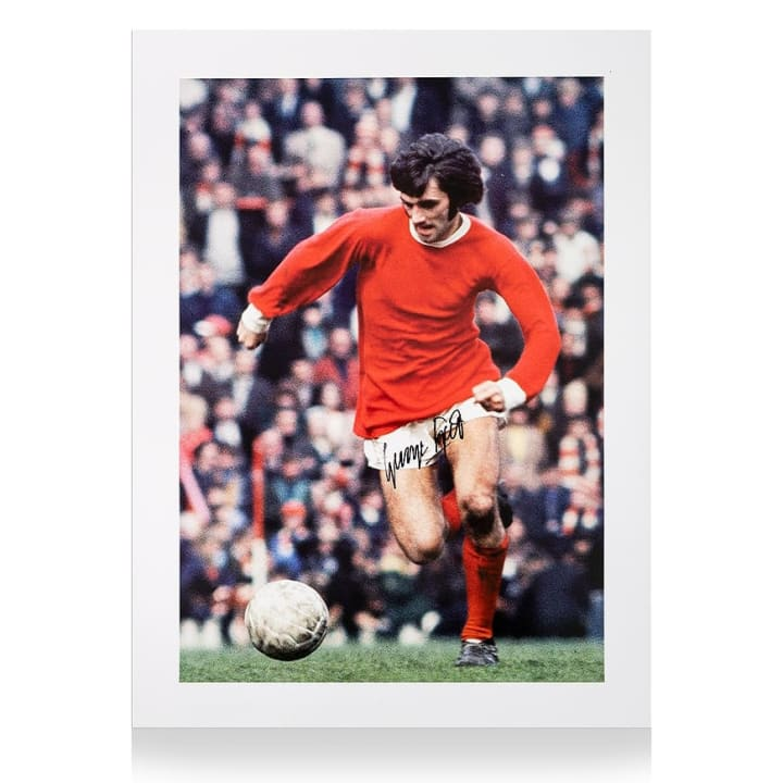 This print signed by George Best is a unique piece of history
