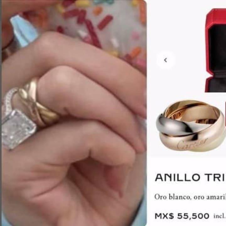Belinda mostró lo que posiblemente sea su anillo de matrimonio