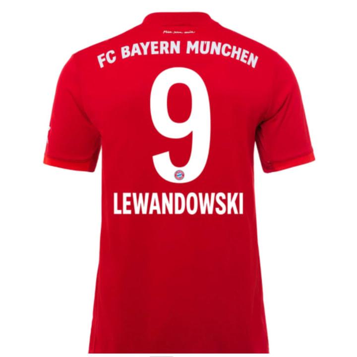 Das Heimtrikot mit Lewandowski-Flock