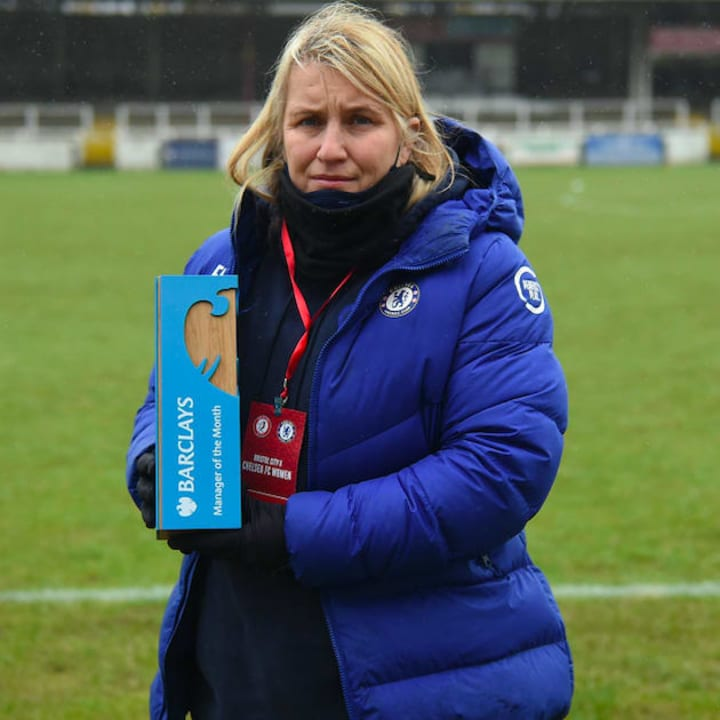 Emma Hayes won January's manager of the month