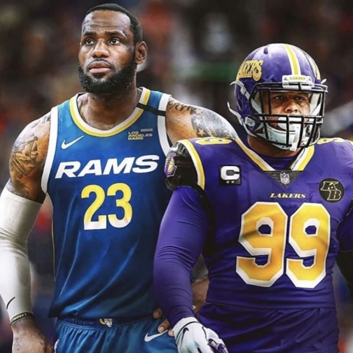 These Rams-Lakers Crossover Jersey Concepts Look Great on LeBron ...