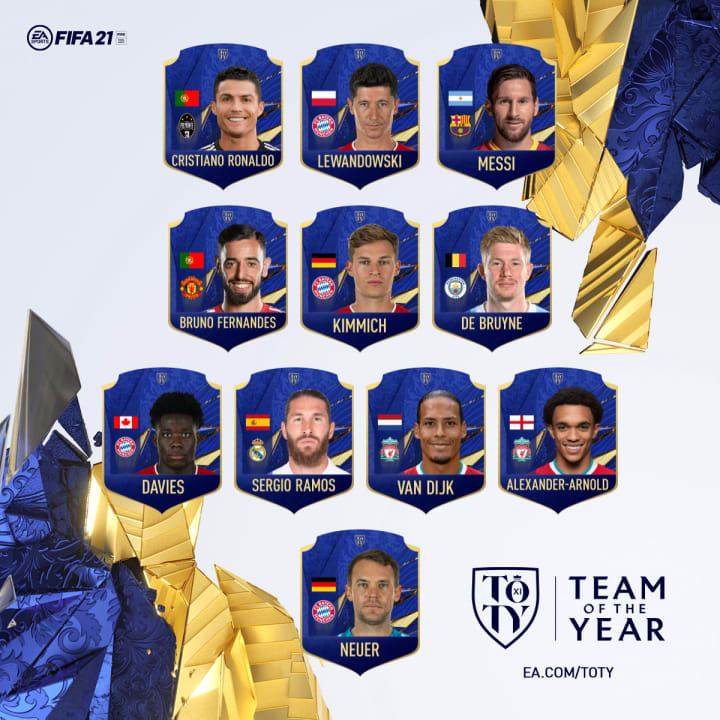 Our picks for the FIFA 21 Team of The Year