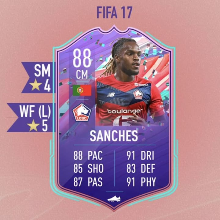 The card that has been leaked is rated at 88, with a five-star weak foot upgrade and four-star skills.