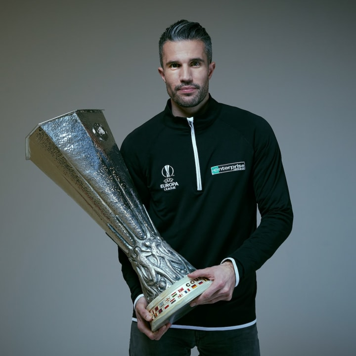 Robin van Persie is an ambassador for Enterprise and the Europa League